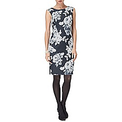 Phase Eight - Denim and ivory Evelyn rose dress
