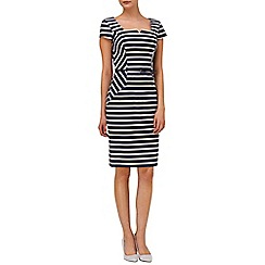 Phase Eight - Indigo and ivory jude stripe dress