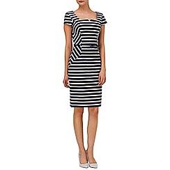 Phase Eight - Indigo and ivory jude stripe dress