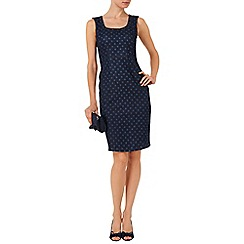 Phase Eight - Indigo cilla denim spot dress