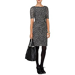 Phase Eight - Black and White textured spot dress