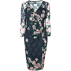 Phase Eight - Palmer print lace dress