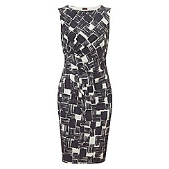 Phase Eight - Charcoal and White celina check dress