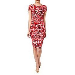 Phase Eight - Red and White alyssa dress