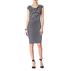 Phase Eight - Samantha stripe cowl dress