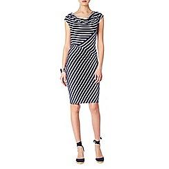 Phase Eight - Samantha stripe cowl dress