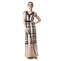 Phase Eight - Collection 8 nude and black francine embellished dress