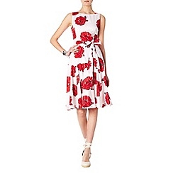 Phase Eight - Red and White iona flare dress