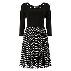 Phase Eight - Black sanna spot pleat dress