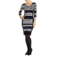 Phase Eight - Fianna stripe knit dress