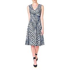 Phase Eight - Blurred Chevron Dress