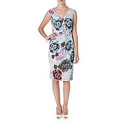 Phase Eight - Multi-coloured anemone dress
