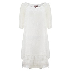 Phase Eight - White pietra silk dress