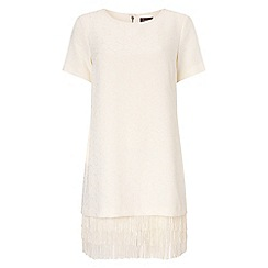 Phase Eight - Cream francesca fringe tunic dress