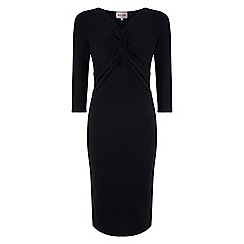 Phase Eight - Black polly ponte twist dress