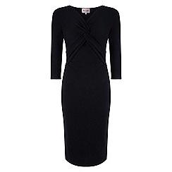 Phase Eight - Black polly ponte twist dress