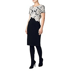 Phase Eight - Black and cream 'Lucianna' lace dress