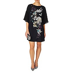 Phase Eight - Black naoki print dress