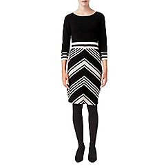 Phase Eight - Magdalena chevron knit dress