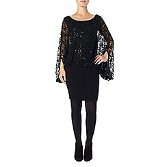 Phase Eight - Black serrina sequin dress