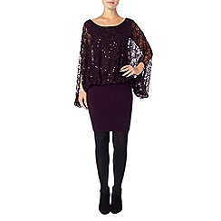 Phase Eight - Blackcurrant serrina sequin dress