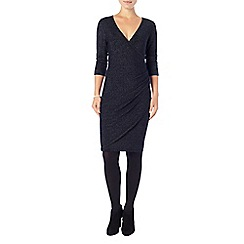 Phase Eight - Navy shimmer maisie wrap dress