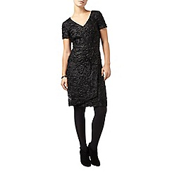 Phase Eight - Black demi tapework sequin dress