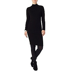 Phase Eight - Black rita turtle neck dress