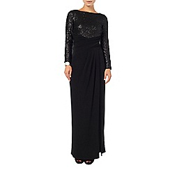 Phase Eight - Black Sissy Sequinned Dress