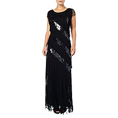 Phase Eight - Annabeth fringed sequin maxi