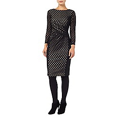 Phase Eight - Spot mesh dress