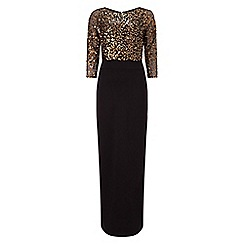 Phase Eight - Bronze and black 'Alyona' sequin blouson full length dress