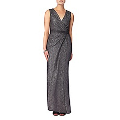 Phase Eight - Silver 'Kylie' metallic wrap dress