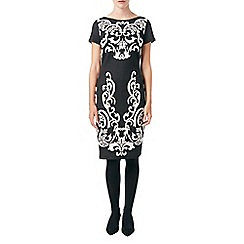 Phase Eight - Black and stone erin jacquard dress