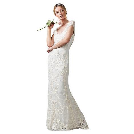 Phase Eight Cream amelie tapework wedding dress   Debenhams