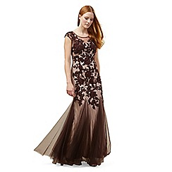 Phase Eight - Oxblood 'Rita' tulle full length dress
