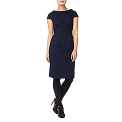 Phase Eight - Navy 'Monroe' textured dress