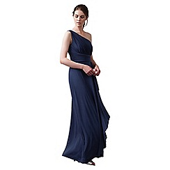 Phase Eight - Navy saffron full length dress