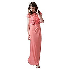 Phase Eight - Coral helen lace full length dress