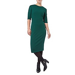 Phase Eight - Dark Green tamzin textured midi dress