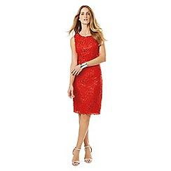 Phase Eight - Tomato rebecca lace dress