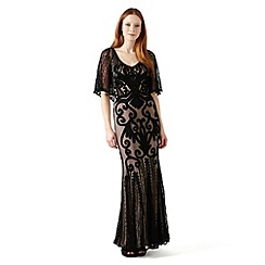 Phase Eight - Black and Nude marseilles tapework dress