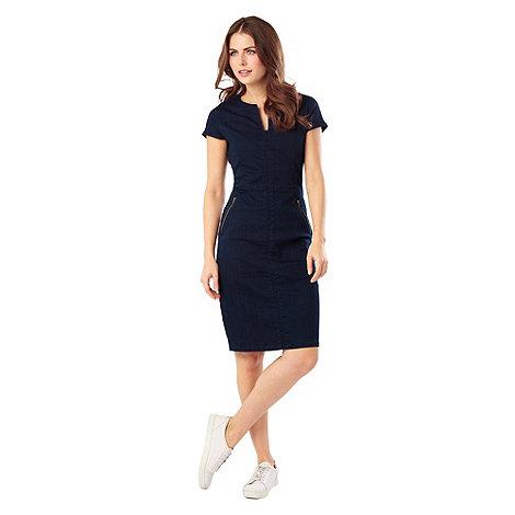 Beautiful  Womens Blue Bird Print Denim Shirt Dress From Debenhams  EBay