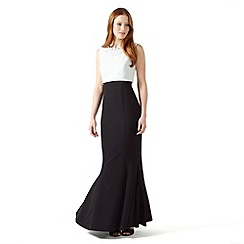 Phase Eight - Ivory and Black boulevard full length dress