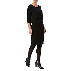 Phase Eight - Black delta double layer dress