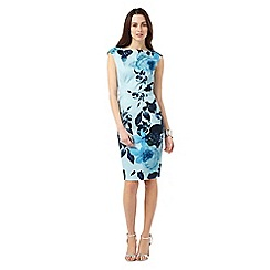 Phase Eight - Blue Multi Chantay Rose Print Dress