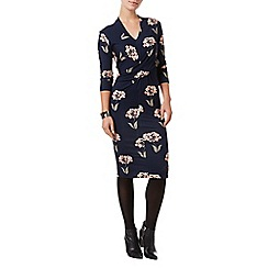 Phase Eight - Navy and Multi monica print dress