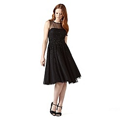 Phase Eight - Black callas embellished dress