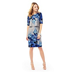 Phase Eight - Grey and Blue lauren tiered dress