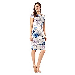 Phase Eight - White And Blue Cindy Crush Dress